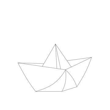 paper boat of origami by stoekenbroek