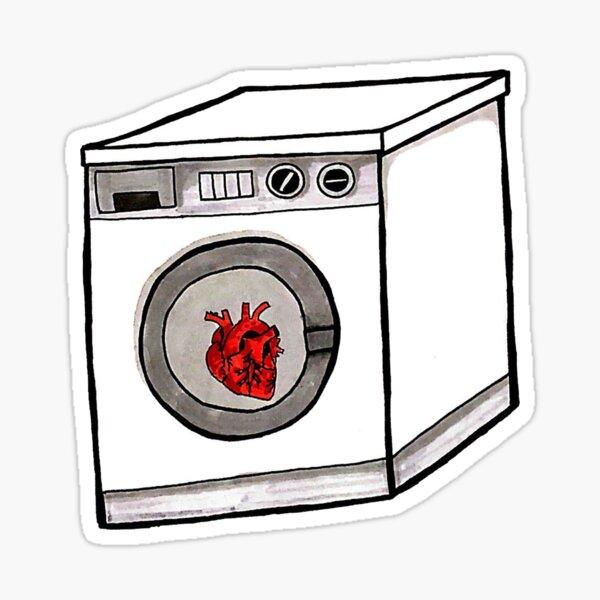 washing machine heart  Sticker