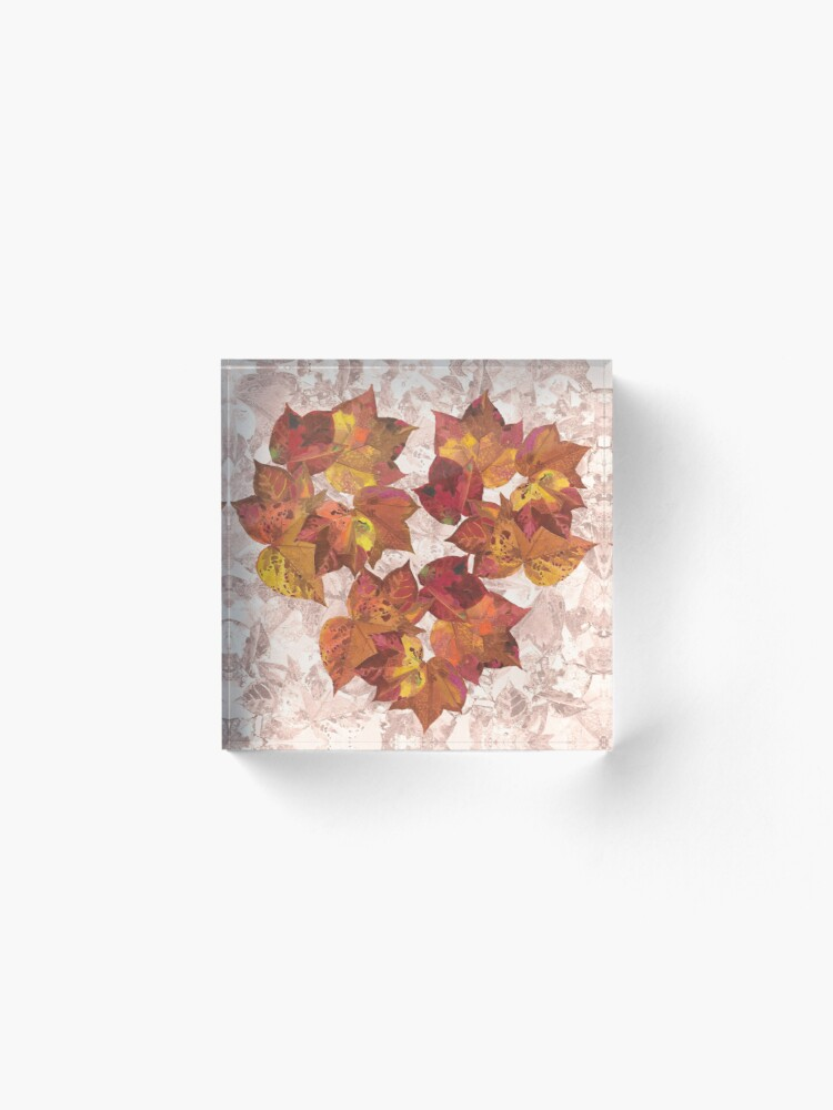 Alternate view of Autumn leaves fall Acrylic Block