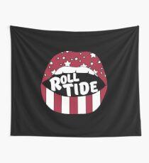 Roll Tide Lips Wall Tapestry