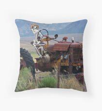 Overworked Farmer Throw Pillow