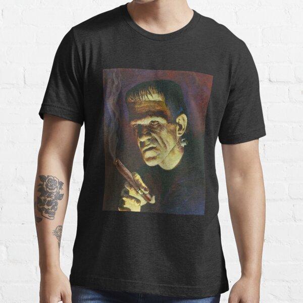 Cigar Smoker Frankenstein Hollywood Vintage Movie Essential T-Shirt