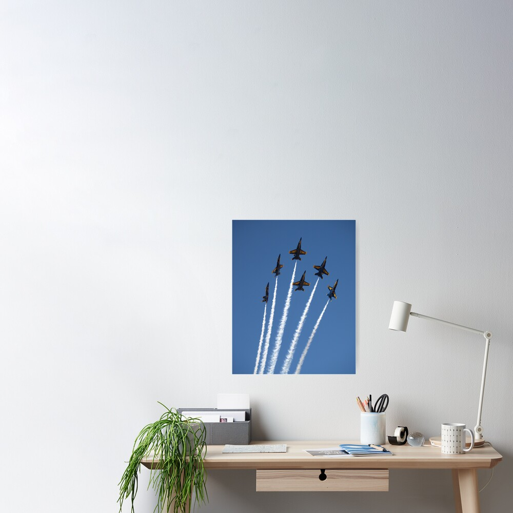 Blue Bouqet Poster