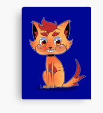 Kitty Fire Canvas Print