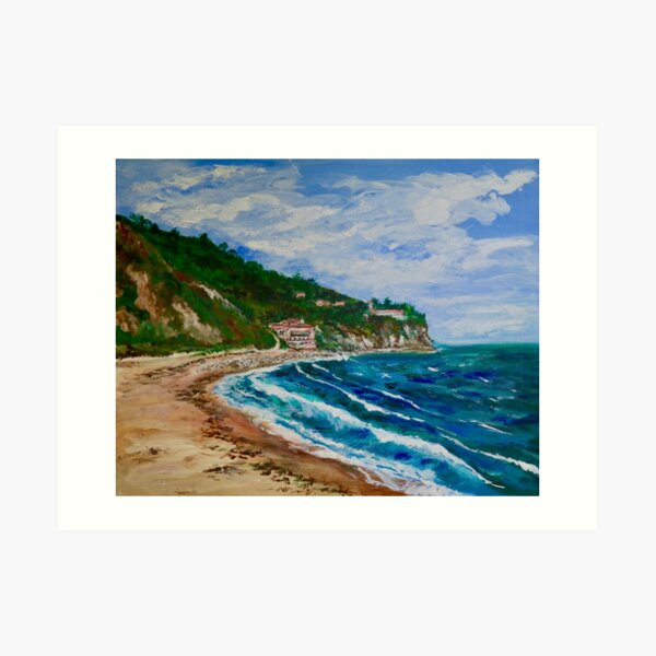 Burnout Beach, Palos Verdes Pennisula Art Print