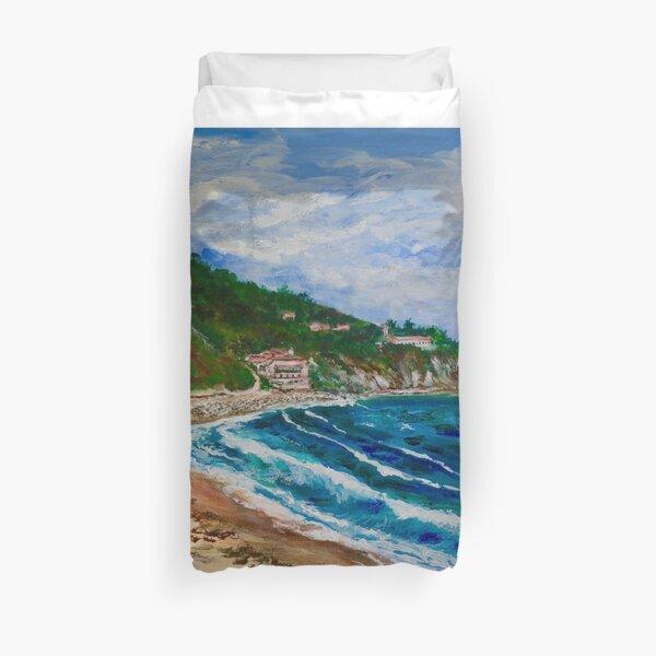 Burnout Beach, Palos Verdes Pennisula Duvet Cover
