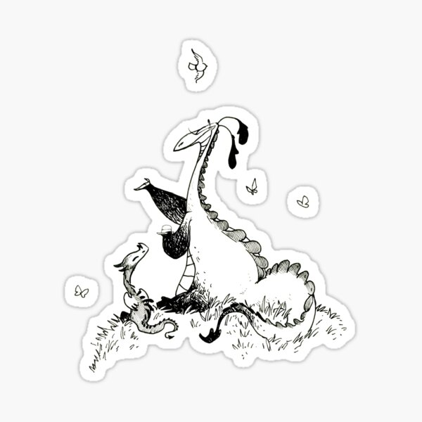 The Reluctant Dragon Sticker