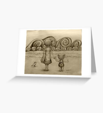 Beachcombers drawing Greeting Card