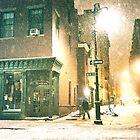 Greenwich Village on a Winter Night - New York City by Vivienne Gucwa