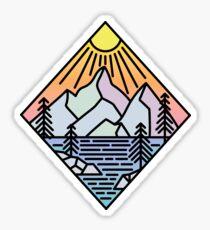 PNW Mountain Sticker