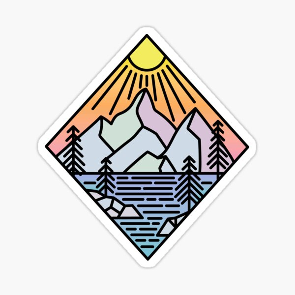 PNW Mountain Sticker