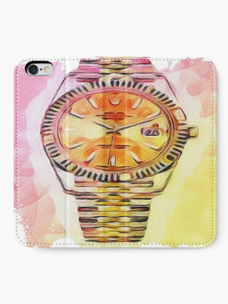 Alternative Ansicht von Uhrzeit Rolex iPhone Flip-Case