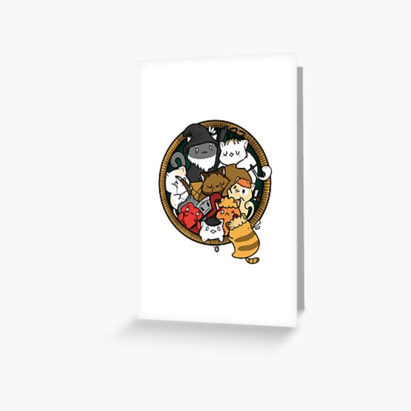 The Furrllowship of the Ring Greeting Card