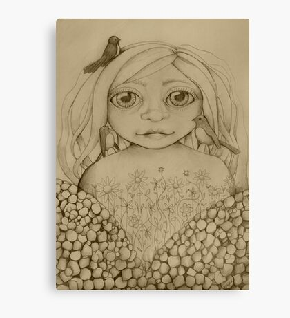 Nature's Child drawing Canvas Print