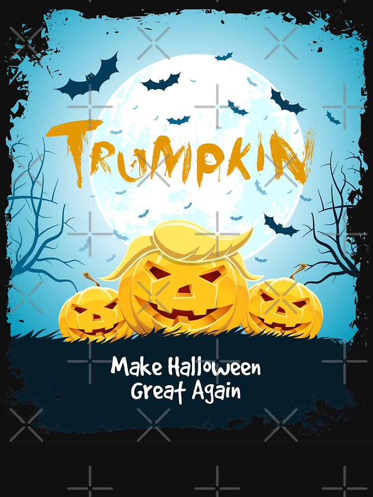 Halloween Trumpkin Funny Distressed Graphic by -WaD-