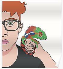 Cavetown/robin skinner w chameleon Poster
