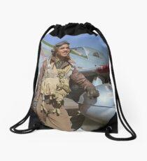 Edward C. Gleed Tuskegee airman — Colorized Drawstring Bag