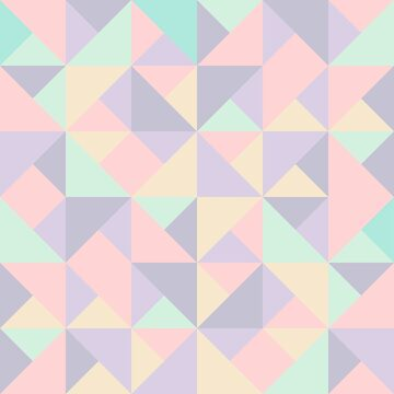 Pastel Nude Cute Triangles by tobiasfonseca