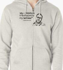 Charles Bukowski Zipped Hoodie