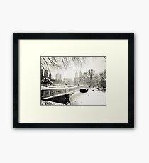 Winter - Central Park - Bow Bridge - New York City Framed Print