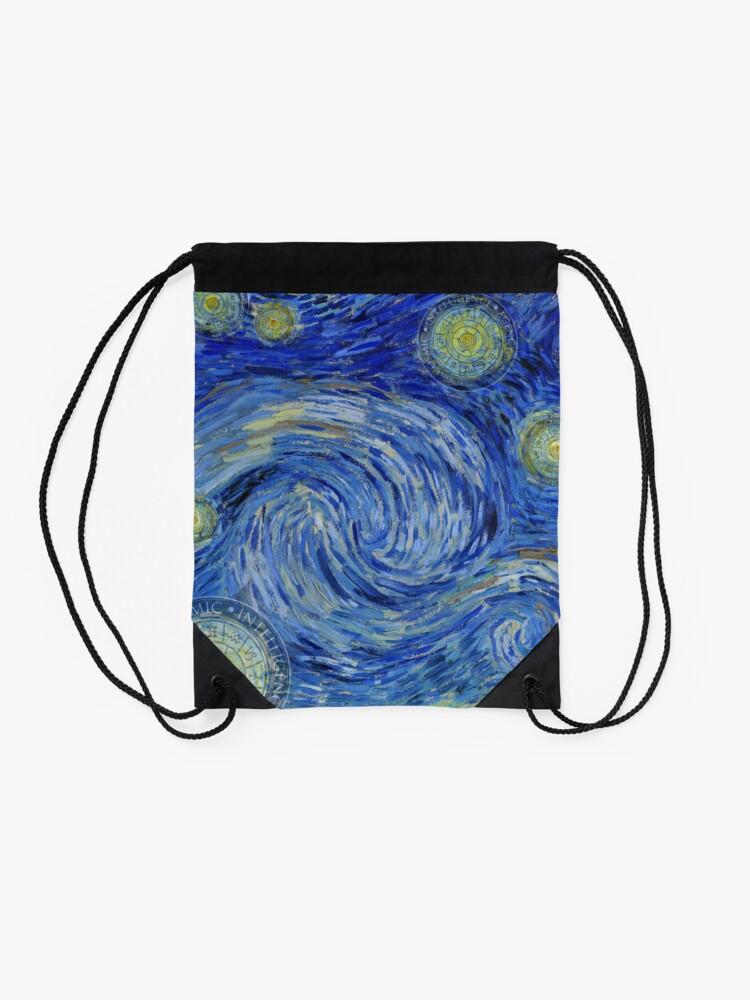 Alternative Ansicht von Starry Night - the Yin Yang of Van Gogh Turnbeutel