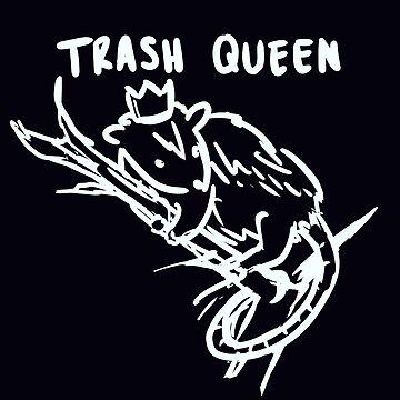 trash queen (white) by kawaideathmatch
