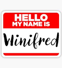 My Name Is Winifred - Introduction Hipster Sticker Tag Sticker