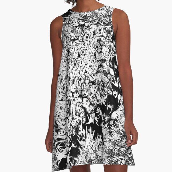 Junji ito mix Collage A-Line Dress