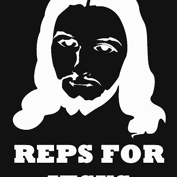 Reps For Jesus Gym Workout Fitness Muscle White by BelfastBoy