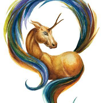 Old School Unicorn by ScrivK
