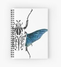 Goliath Beetle in flight Spiral Notebook