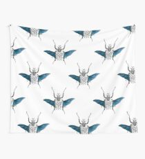 Goliath Beetle in flight Wall Tapestry