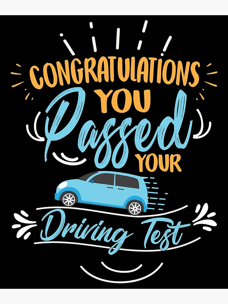 Congratulations passing your driving test Greeting Card BNIP