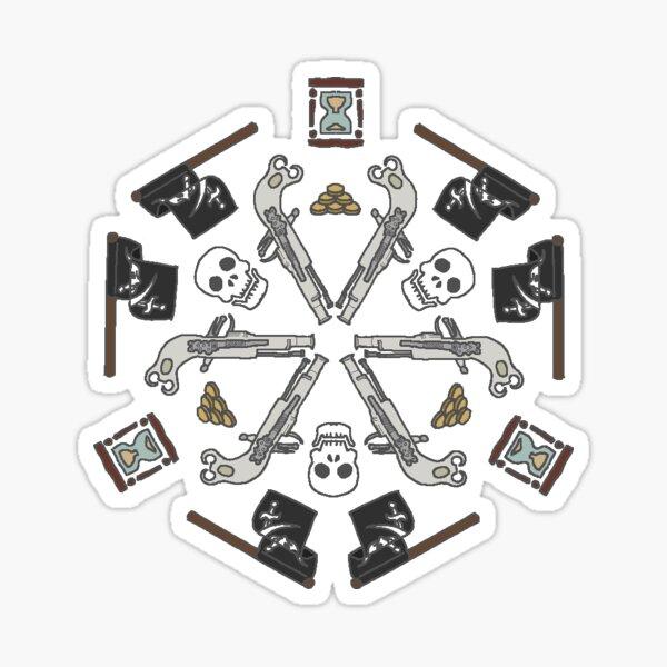 piratey pattern Sticker