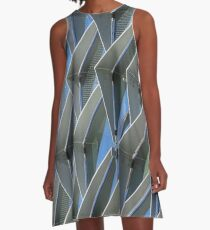 glass and steel A-Line Dress