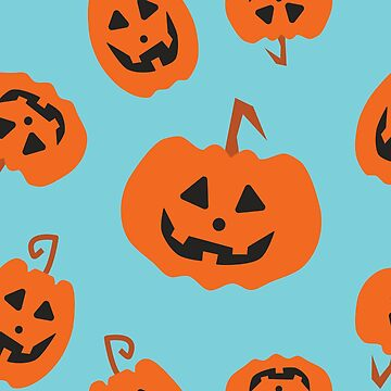 Cute Halloween Pumpkin Pattern by sassybeedesigns
