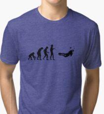 Evolution to Scuba Diver Tri-blend T-Shirt