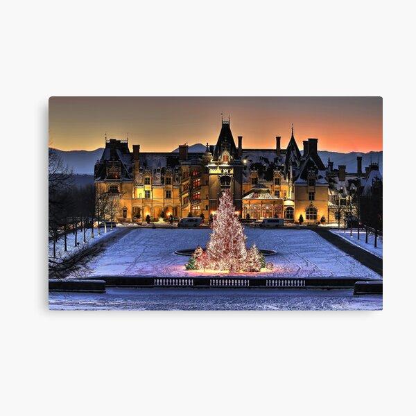 Biltmore Noche de Navidad todo cubierto de nieve Lienzo