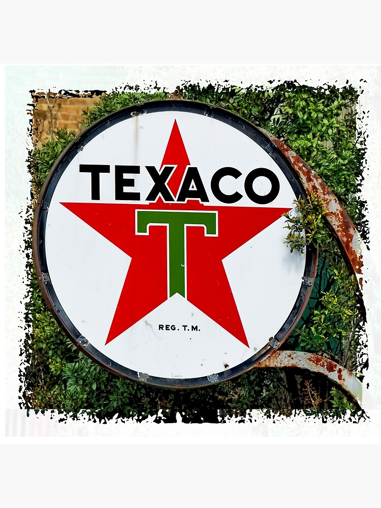 Round Texaco Sign by WarrenPHarris