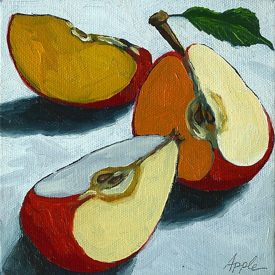 Sliced Apples by LindaAppleArt