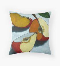 Sliced Apples Throw Pillow