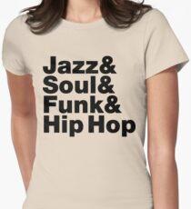 Jazz & Soul & Funk & Hip Hop Women's Fitted T-Shirt