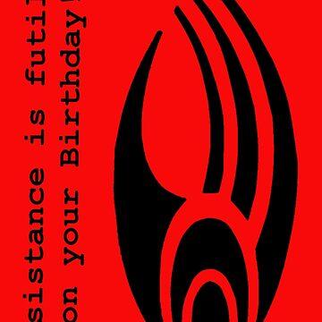 Resistance is Futile - (Borg Insignia) 'Birthday' by Grainwavez