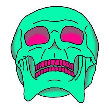 Psychedelic Skull by MrGekko