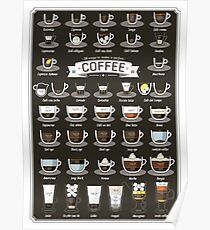38 Wege, um einen perfekten Kaffee zu machen! Poster