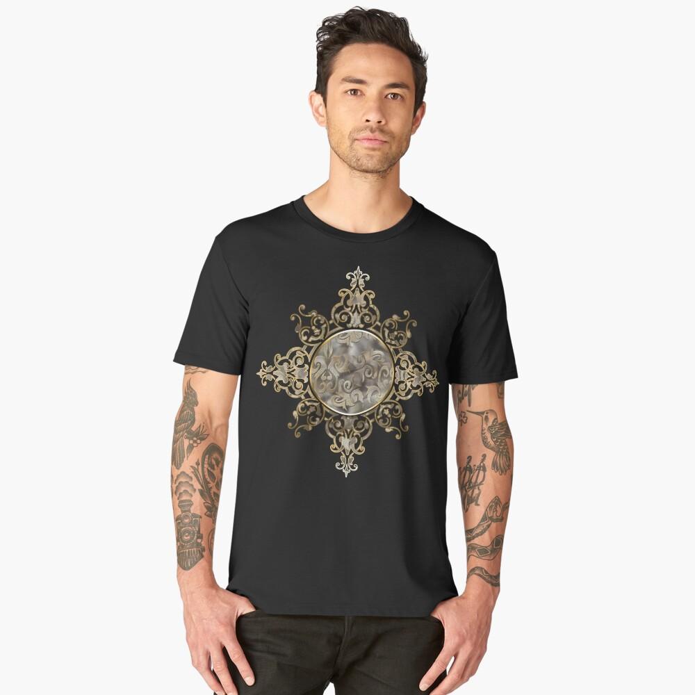 Gothic ornament design Men's Premium T-Shirt Front
