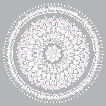 Mandala pink  by hayleylauren