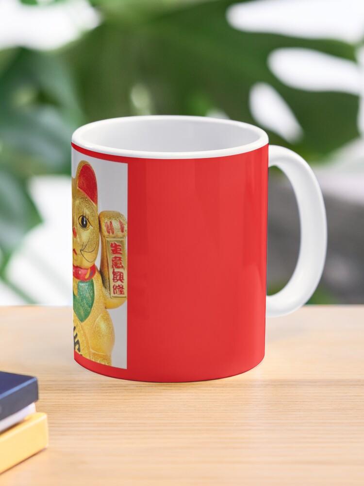 Chinese Lucky Cat Gold Mug By Photogooroo Redbubble
