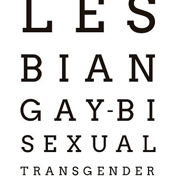 LGBT LESBIAN GAY BISEXUAL TRANSGENDER OCULIST TEST PRIDE by revolutionlove
