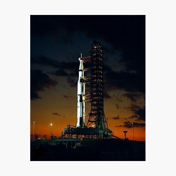 Apollo 4 Saturn V Rocket on Launchpad - 1967 Photographic Print